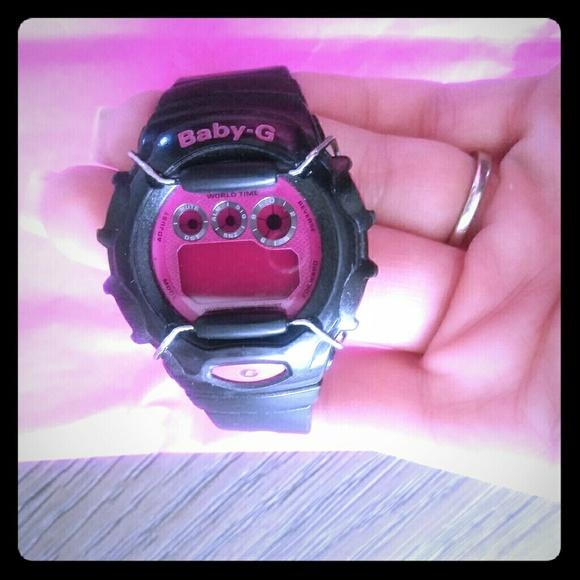 ca8f26fbe3 Pink & Black Baby G-Shock Watch